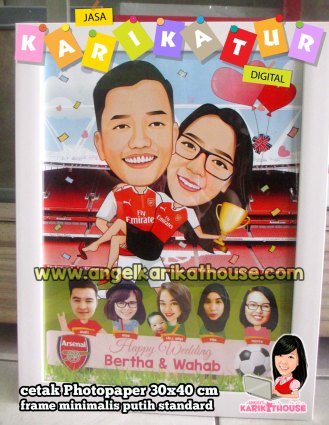 arsenal couple caricature