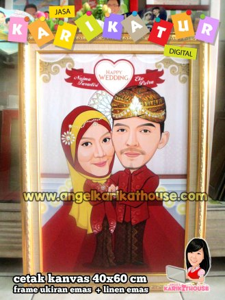 wedding java caricature